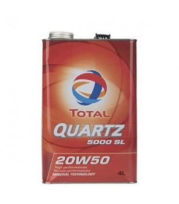 روغن موتور توتال مدل QUARTZ 5000 20W50 4L
